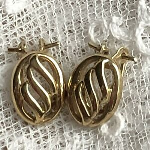 Gold Clip On Earrings 9Ct 9 Carat 375 Hallmarked Gold Sheffield England Bridal