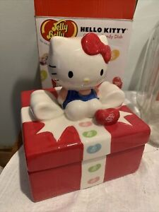 Hello Kitty Ceramic Jelly Belly Candy Dish With Lid Limited Edition by Sanrio