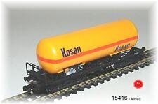 """Trix Minitrix 15416 Druckgas-Kesselwagen """"KOSAN"""" der DSB #NEU in OVP#"""