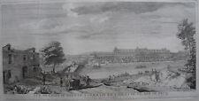 RIGAUD JACQUES (1680-1754), VUE CHATEAU NEUF ST GERMAIN EN LAYE ET PECQ , 1730,
