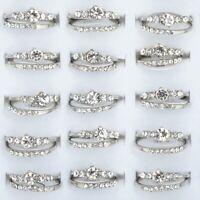 10 Stück Set Ring Damen Schmuck Fingerring Zirkonia Kristall Hochzeit Ringe Neu