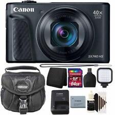 Canon PowerShot SX740 HS Digital Camera 40x Optical Zoom with 64GB PRO Kit Black