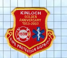 Fire Patch - KINLOCH GOLDEN ANNIVERSARY