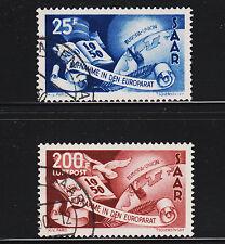 OPC 1950 Saar Council of Europe Set Sc#226, C12 Used VF