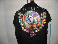 FIFA 1994 Men's World Cup 24 Flag Oficial Logo T-Shirt Size L (NWOT)