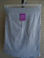 NEW JUST MY SIZE 3X  STRETCH WAIST POCKET SHORTS GRAY