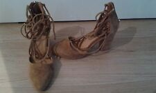 New Mollini Suede Lace Up Heel Size 37