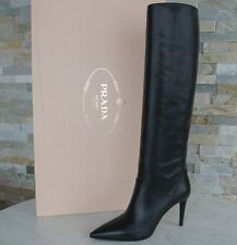 luxus Prada Gr 37 Stiefel boots Schuhe shoes 1W101F Schwarz NEU UVP 1200 €