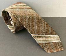 Vintage Wemlon by Wembley Brown Green Plaid 3 inch Mens Boys Neck Tie Mint