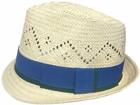 Headchange Toyo Fedora Vented Crown Straw Golf Beach Trilby Hat