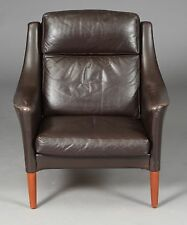 VINTAGE RETRO DANISH LEATHER  LOUNGE CHAIR 1960s