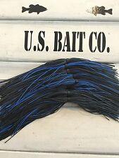 Bass Jig Skirts Living Rubber Lot Of 10 Color Black Blue