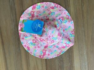 I Play Baby Girl Brim Sun Protection Hat UPF 50 Sz 9-18 months NWT