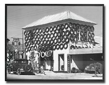 Secondhand Tires Displayed For Sale at San Marcos Texas 1940 Art Print (16x20)