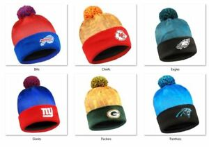 NFL Team Logo Light Up Printed Beanie Hat -Select- Team Below