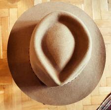 Vintage Akubra Stockman Hat, size 57, Original, Beige, made in Australia.