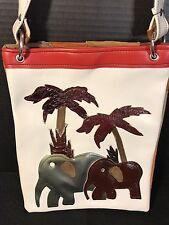 Elephant Leather Suede purse handbag tote Spain