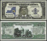 Lot of 100 BILLS - NEW YORK GOVERNOR ANDREW CUOMO MILLION DOLLAR LEADER NOTE