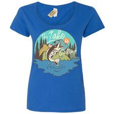 Grande Peces Camiseta Lake Pesca Mujer Cuchara