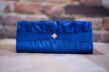 0ee50394b1 Royal Blue Raso Borsa Da Sera Clutch Bag-Matrimonio Festa Ballo