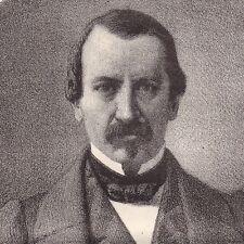 Portrait XIXe Dubreuil-Hélion Vicomte de La Guéronnière le Dorat  Haute-Vienne