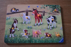 Ravensburger Farm Animals Wooden Jigsaw Puzzle ✨