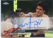 2018 Topps UFC Chrome HENRY CEJUDO Refractor Auto Autograph Card
