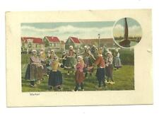 Postly used marken netherland 1935 young girls playing ring around the rosie