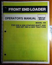 Deutz Allis 436 Front End Loader For 5220 5230 Synchro Shift Hst Tractor Manual