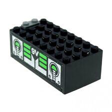 1 X Lego système Electric Batterie Encadré Noir Argent Vert Avec Unitron Monorail