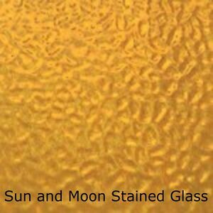 Wissmach Stained Glass Sheet EM47 - MEDIUM AMBER English Muffle Stained Glass