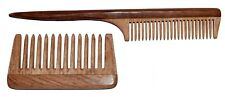 2 Handmade Comb made from Neem (Azadirachta Indica) wood/ tree for grooming hair