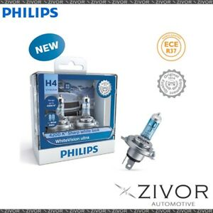 Philips Globe H4 W5W 12V 60/55W Twin Pack White Vision Ultra (12342Wvusm)