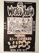 Vintage Punk LA's Wasted Youth 11x17 80's Show Poster Authentic Genuine Rare!