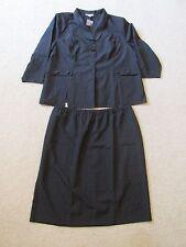 New Women's Roaman's 2 Piece Solid Black Skirt Suit Blazer Jacket Plus Size 34W