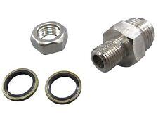 Universal AN10 Oil Pan Drain Return Plug/Fitting Adapter Bung Turbo T3 T4 T04E