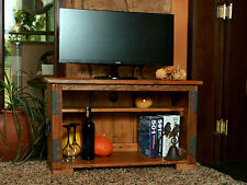 Vintage TV Unit Stand Storage Rustic Cottage Wooden Handmade Book Shelf Cupboard