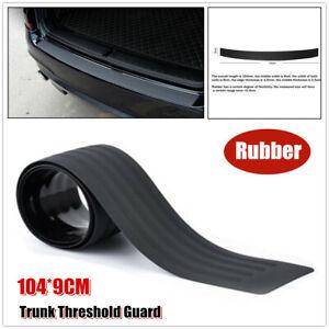 1×Car SUV Rubber Sill Plate Bumper Guard Protector Rearguard Pad Cover 104CM*9CM
