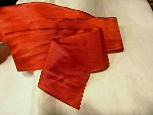 """3"""" WIDE GERMAN RAYON MOIRE' RIBBON - RED"""