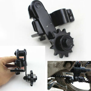 Black High Strength Steel Circular Tube Motorcycle 428/428H Chain Tensioner 1x