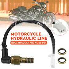 Motorcycle Rear Hydraulic Pressure Brake Light Switch Banjo Line M10 For Honda
