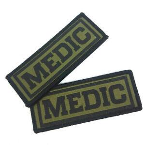 2 x Aufnäher Medic Patch Klett Sani Prepper Airsoft Sanitäter Bushcraft Bund