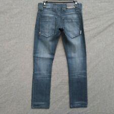 Nomis Skinny Womens Jeans Waist 30 Dark Distressed Wash