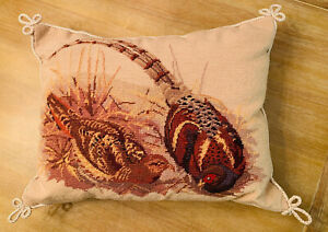 Pheasant Needlepoint Pillow