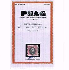 EXCEPTIONAL GENUINE SCOTT #122 USED 100% SOUND 1869 PSAG CERT G-GRILL SCV $1800