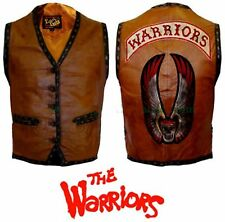 "The Warriors Movie Brown Leather Vest For Bike Riders ""Best Halloween offer"""