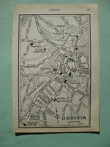 stampa antica old map MAPPA FRIULI GORIZIA  1^ meta 900 da guida inglese
