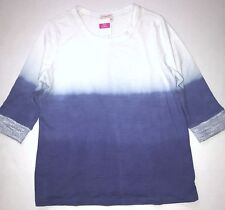 FRESH PRODUCE 2X Peri AURORA Ombre FRENCH Terry 3/4 Sweatshirt Top NWT New 2X
