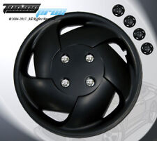 """Matte Black Style 083 15 Inches Hubcap Wheel Cover Rim Skin Covers 15"""" Inch 4pcs"""