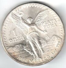 1984 Mexico Onza, One Troy Ounce of Actual SILVER!